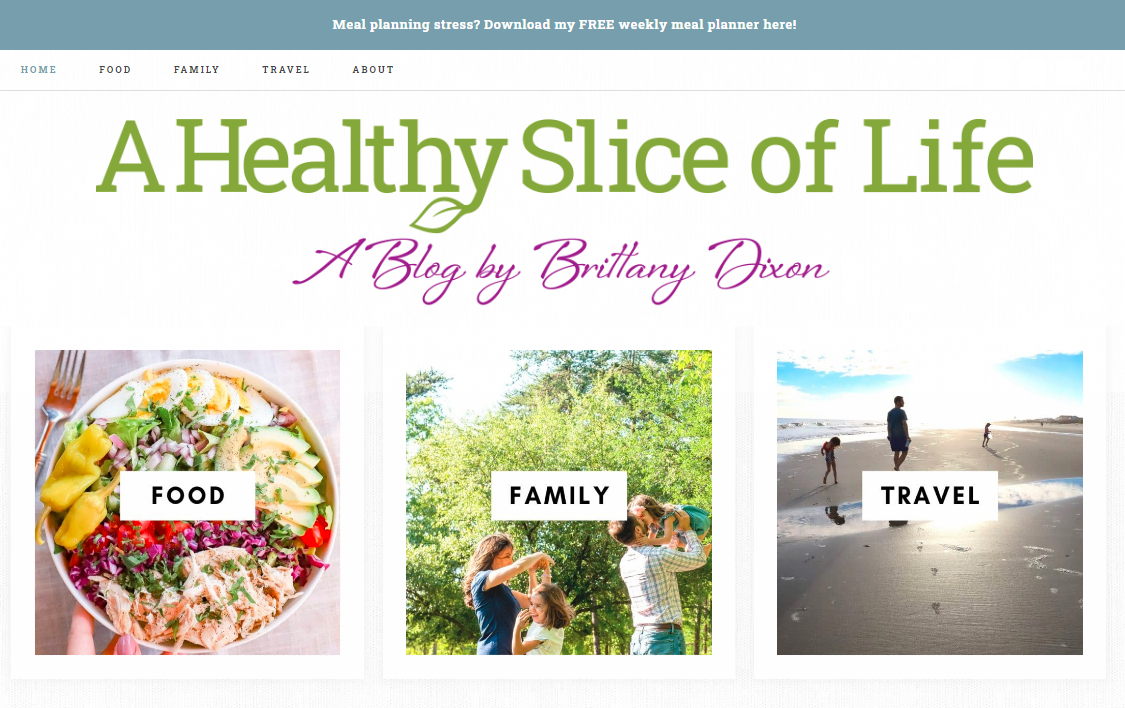 A Healthy Slice of Life: Nutrition blog and website