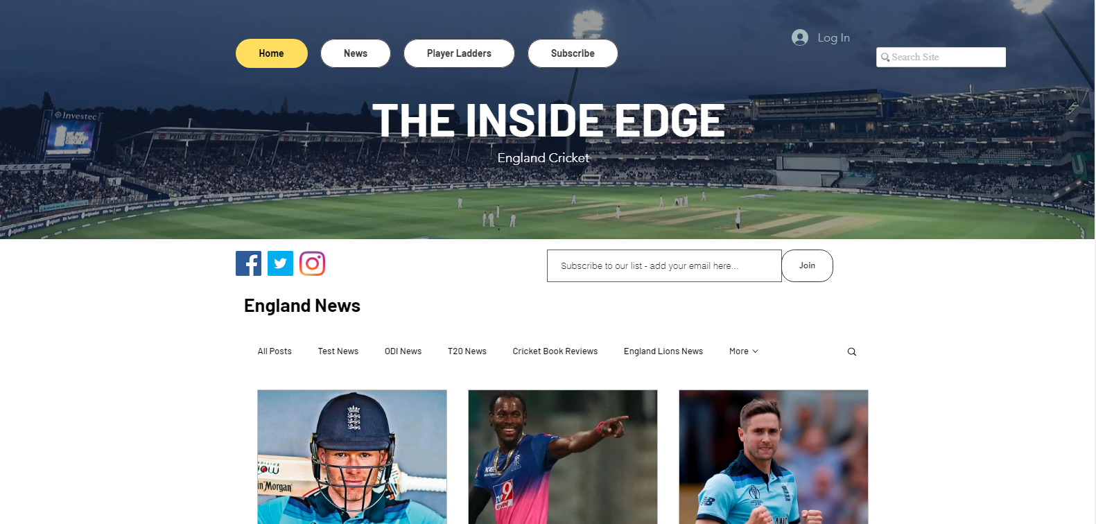 Inside Edge Cricket: Cricket blog and Website