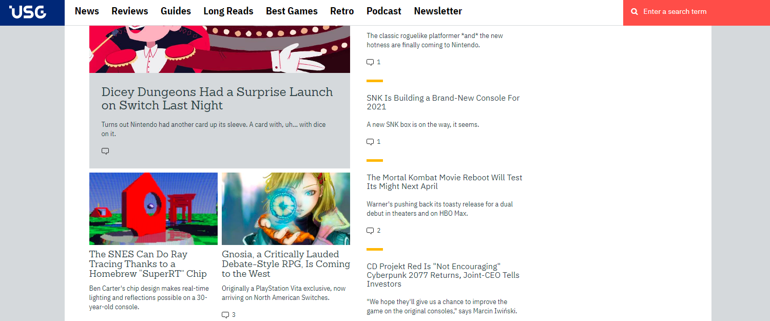 Usgamer: Gaming blog and website