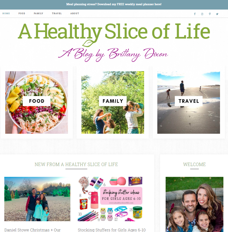 A Healthy Slice of Life: Health Blog and Website