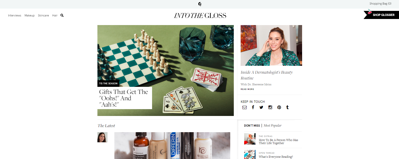 Into the gloss: Style blog and website