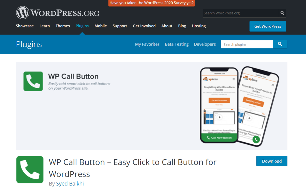 WPCallButton: WordPress widget