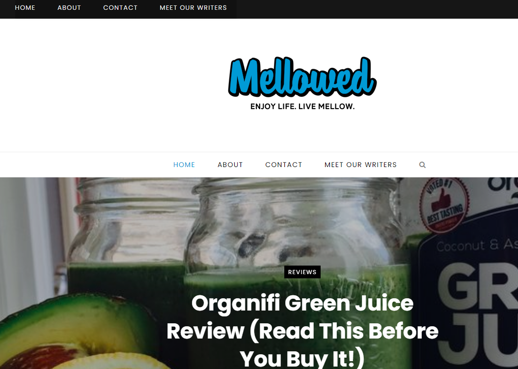 Mellowed: Health Blog and Website