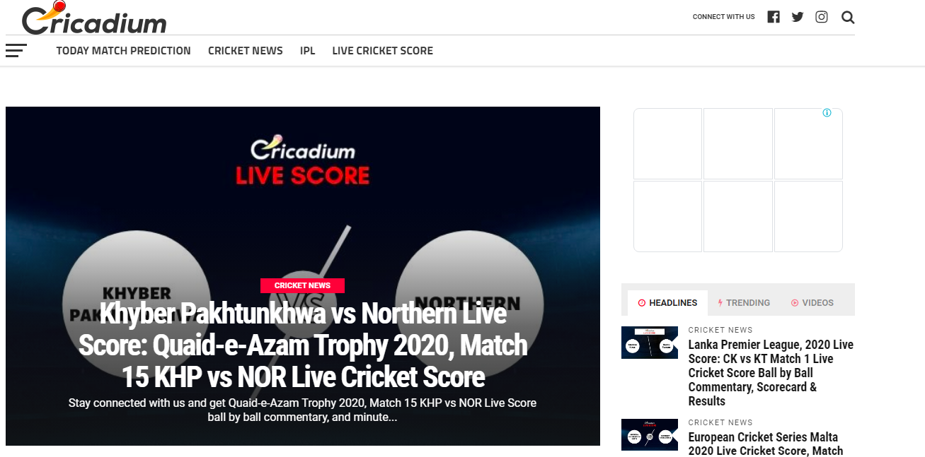 Cricadium: Cricket blog and Website
