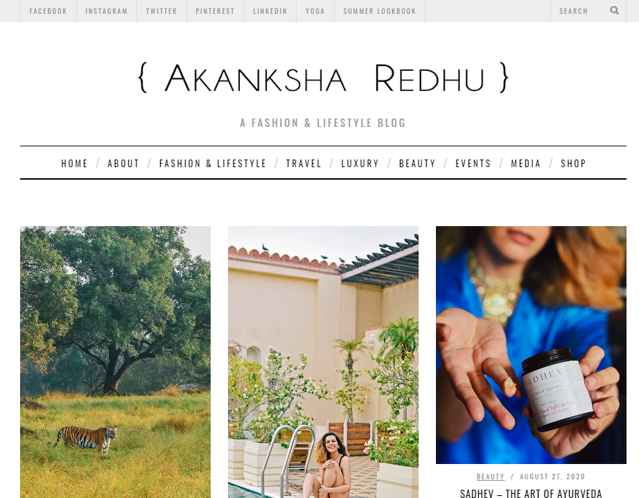 Akansha redhu: Style blog and website
