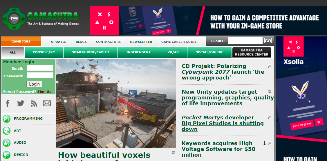 Gamasutra: Gaming blog and website