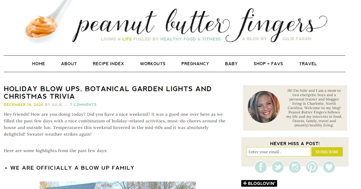 Peanut Butter Fingers: Health Blog and Website