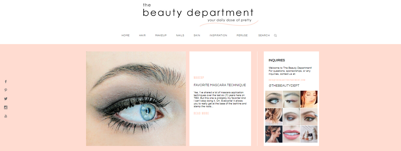 The beauty department: Style blog and website