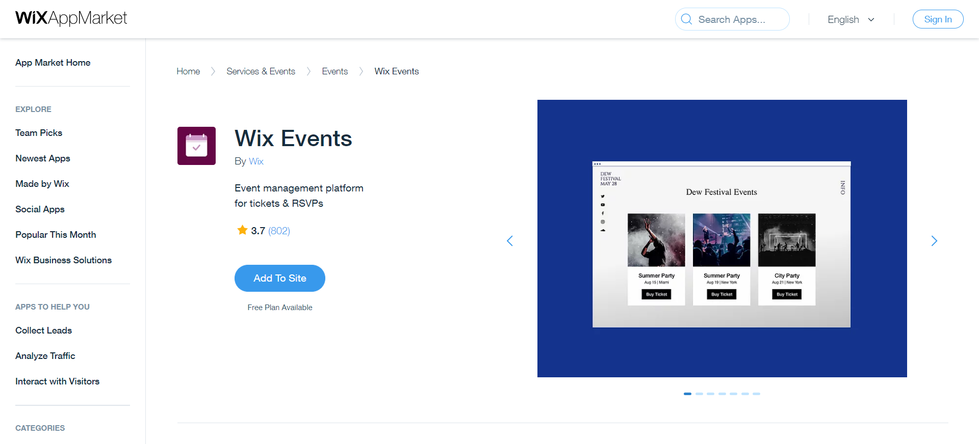Wix Events: Wix App