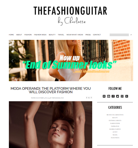 The Fashion guitar: Style blog and website