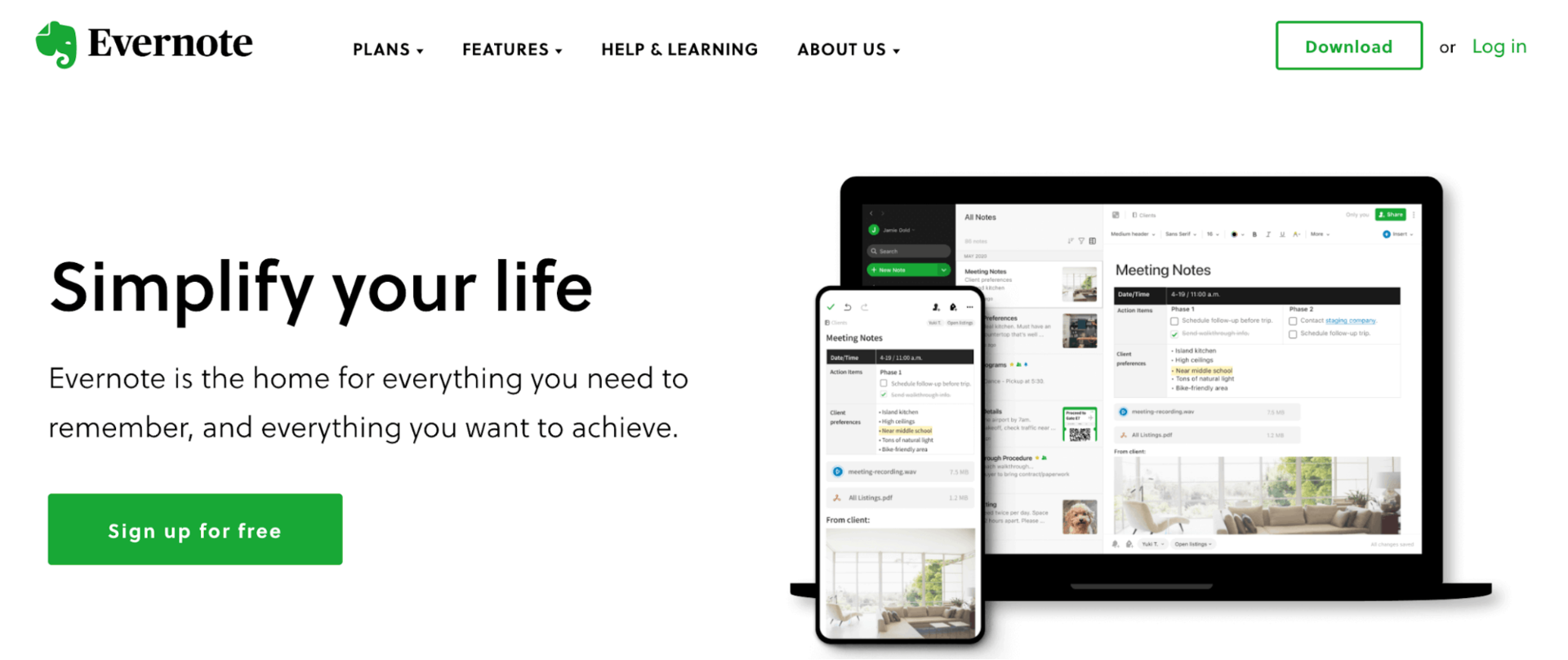 Evernote referral marketing example