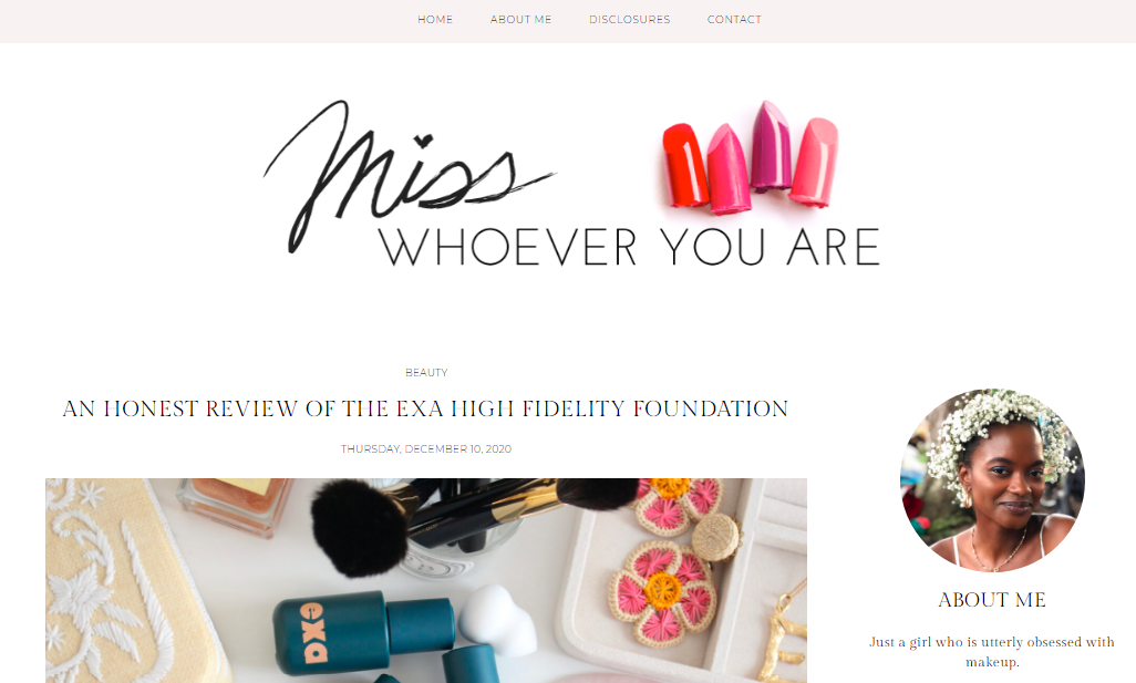 Miss whoever you are: Style blog and website