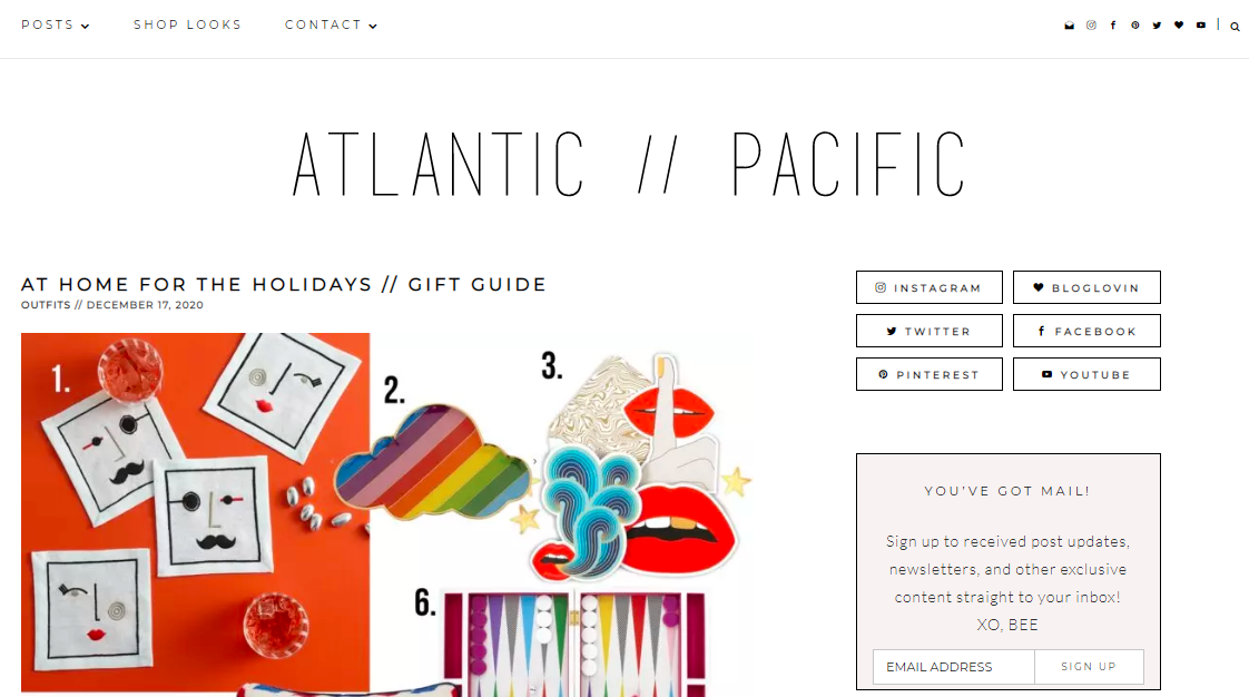 Atlantic pacific: Style blog and website