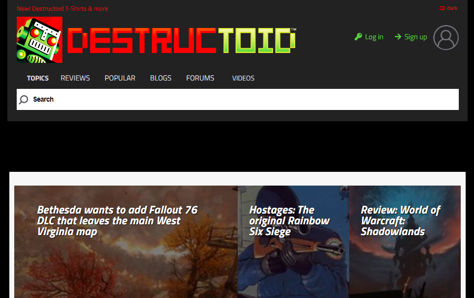 Destructoid: Gaming blog and website