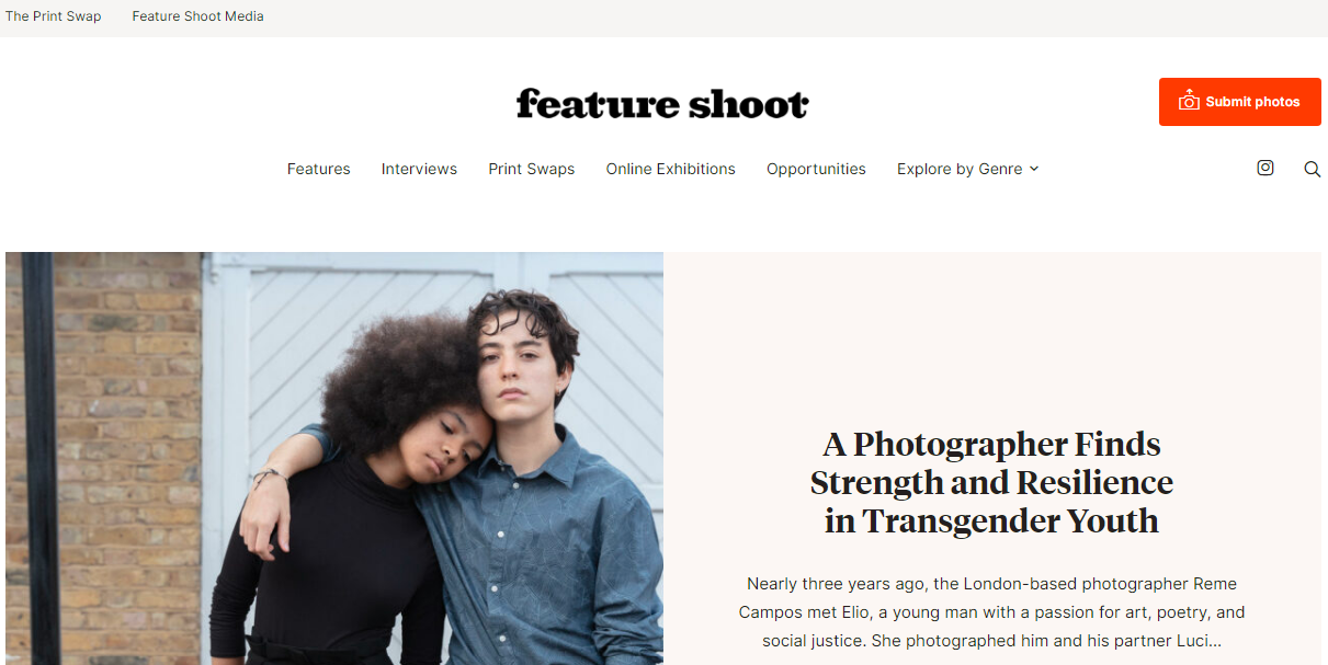Feature shoot: Photography blog and website