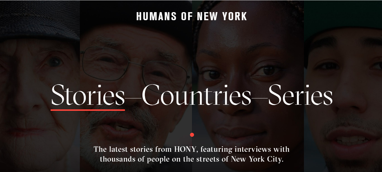 Humans of new york: Photography blog and website
