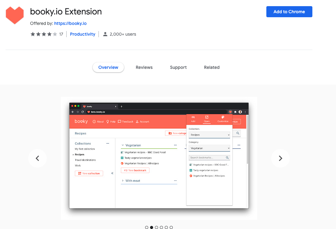 Booky.io: Chrome Extensions to Save Bookmark