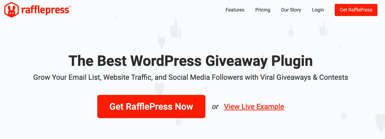 Raffle Press: WordPress widget