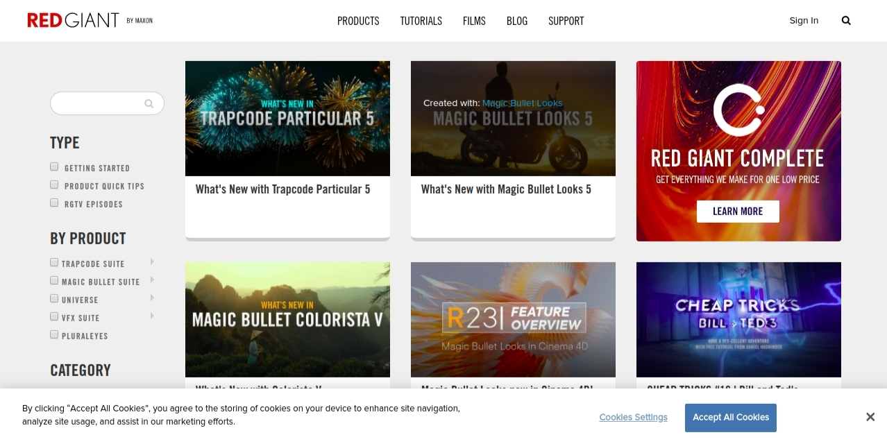 Red giant: Video editing blog and website