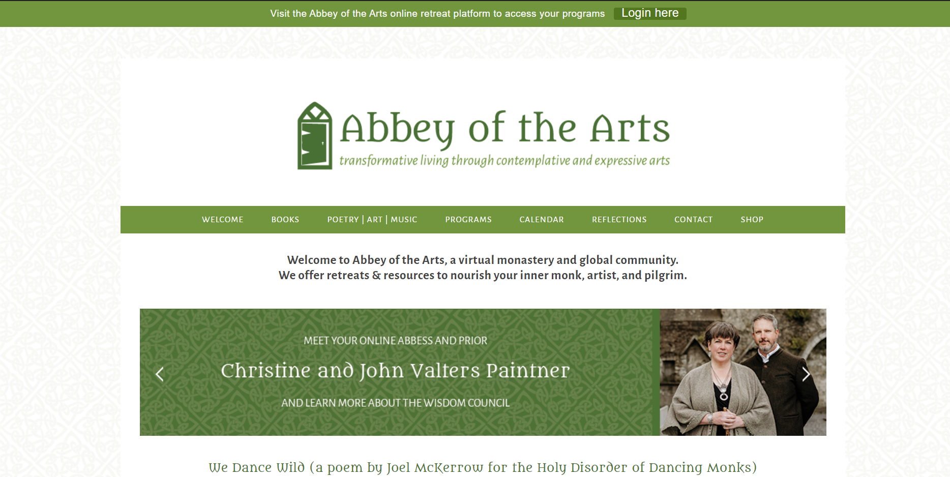 Abbey of the arts: Spiritual blog, website and influencer